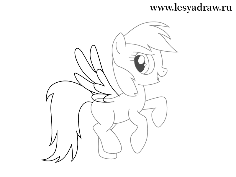 Cute pony drawing